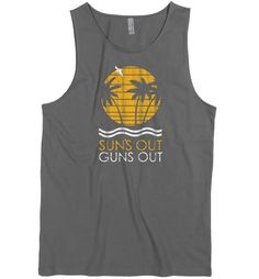 DirtyRagz Men's Suns Out Guns Out Muscle Tank Top L GREY - http://guntshirts.us/dirtyragz-mens-suns-out-guns-out-muscle-tank-top-l-grey/