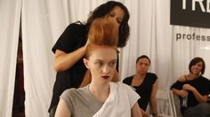 TRESemmé Celebrity Stylist Jeanie Syfu certainly knows how hair can complete any look. Leading the TRESemmé team, Syfu consults with designer contestants to create the runway hairstyles on Bravo's hit series, as featured in these Finished Looks photos. #redhair #volume