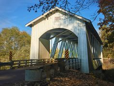 Photographing Oregon Gilkey Covered Bridge near Scio in Linn County Oregon