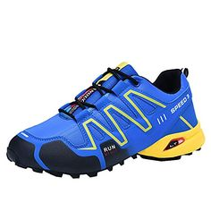 30f3d19e5cc4 JSPOYOU Mens Non-Slip Running Shoes Sneakers Hiking Shoes Athletic Outdoor  Sports Shoes Blue -