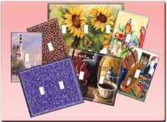 decorative light switch covers or diy with craft paper and hodge podge