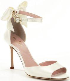 6004cdbdfaf kate spade new york Izzie Bow Detail Satin Ankle Strap Dress Sandals