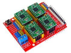 Contrôler un moteur pas à pas (comme sur une imprimante 3D, CNC etc...) Arduino, cnc shield, Simple G-code décodé - Domotique, objets connectés et objet 3D; DomoChris Arduino Cnc, Servo Arduino, Impression 3d, Gauche, Cnc Machine, Comme, Trains, Raspberry, Geek Stuff