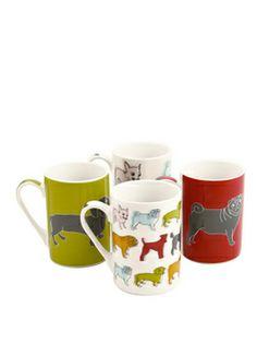 Sabichi Pug Mugs (set of 4) for vicki's bday?