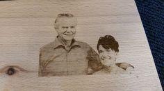 #foto gegraveerd in het houten plank