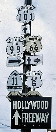 California - U. S. highway 6, U. S. highway 66, U. S. highway 99, state highway…