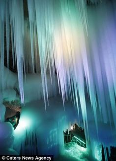Three million years old ice cave in Ningwu County of Xinzhou City, north Chinas Shanxi Province