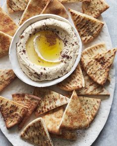 The Best Hummus and Herbed Baked Pita Chips