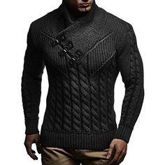 LEIF NELSON Herren Strickjacke Pullover Hoodie Jacke Sweatjacke Sweatshirt Sweater Pulli Winterjacke Freizeitjacke LN4195 (XXX-Large, Anthrazit): Amazon.de: Bekleidung