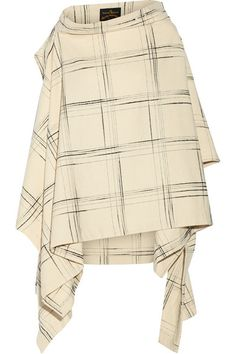VIVIENNE WESTWOOD ANGLOMANIA Gaia checked wool-blend cape / YES!!! #MRSapproved