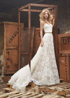 Hayley Paige two piece wedding dress