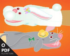 PDF. Easytomake Rabbit & Mouse simple hand puppet by SIMPUPS, $2.00