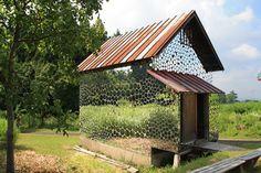 Un petit habitat qui reflète la nature @Japon #architecture #Art #Design/Archi #installation