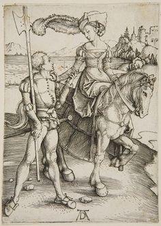 Albrecht Dürer   German (1471 - 1528)   Lady and Lansquenet