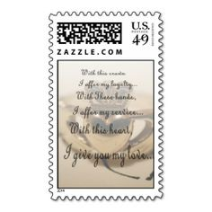 Just Married Announcement Claddagh Postage Claddagh