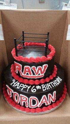 DIY WWE Wrestling Cake Decorating Idea Wrestling Birthday Parties, Superman Birthday Party, Mexican Birthday Parties, Wrestling Cake, Wrestling Party, Wwe Cake, Wwe Party, Themed Cakes, Party Cakes
