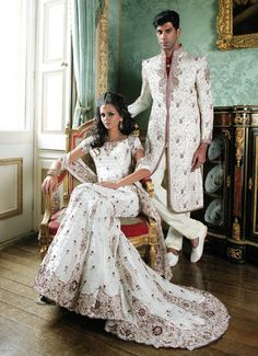 I would love to have an Indian inspired wedding dress. I would want it white, even though they are traditionally red.