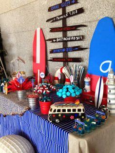 caramelos sin chupar: Candy Bar comunión surf