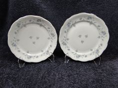 "$9.99 Johann Haviland Bavaria Blue Garland Salad Plates 7 1/2"" - Set of  TWO - NICE! #JohannHaviland"