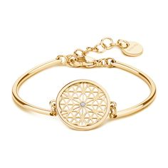 FLOWER OF LIFE: WELL-BEING, PERFECTION, CHANGEThe perfection of this symbol is in its simplicity, enclosing the eternal creative process, helping to balance all systems and put them in perfect harmony. The Flower of Life is a metaphor for Chakra, Flower Of Life, 316l Stainless Steel, Bangles, Bracelets, Pink And Gold, Bracelet Watch, Swarovski, Jewels