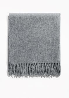 Designed in Stockholm. Sumptuously voluminous and divinely warming, this soft wool scarf is a timeless wardrobe essential. + Dimensions: 200 x 60 cm + Product ID: 0247970013 + Wool + Dry clean Grey Scarf, Oversized Scarf, Wool Scarf, Cashmere Scarf, Fashion Story, How To Look Pretty, Wool Blend, Clothes For Women, My Style