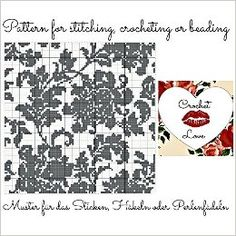 Vintage Flower: Pattern for stitching, crocheting or beading