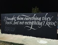 """602 отметок «Нравится», 8 комментариев — Viktor Kams (@misterkams) в Instagram: «Out tonight doing this James brown's quote with my latest favorite silver paint. """"I taught them…»"""