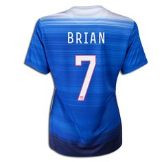 2015 FIFA Women's World Cup USA Morgan Brian 7 Women Away Soccer Jersey