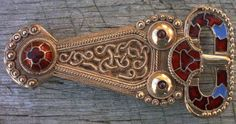 Anglo-Saxon; Taplow, Buckinghamshire. Cloisonne cells & beaded decoration. The buckle is believed to have been used on a sword baldric belt.