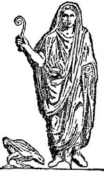 An augur holding a lituus, the curved wand often used as a symbol of augury on Roman coins. This represent Romulus and Remus counting the birds. Ancient Aliens, Ancient Rome, Ancient Greece, Romulus And Remus, Religious Studies, Bird Wings, Kinds Of Birds, Roman Empire, Fantastic Beasts