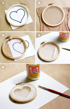 Make your own silk screens...this is really smart and it's using household items!!