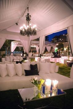 White Lounge and Drapery - event inspiration Lounge Party, Wedding Lounge, Wedding Reception, Dream Wedding, Wedding Ideas, Lounge Decor, Lounge Furniture, White Furniture, Lounges