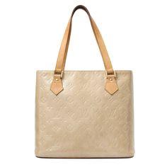 9583f25c6d55 Labellov Louis Vuitton Beige Monogram Vernis Houston Bag ○ Buy and Sell  Authentic Luxury