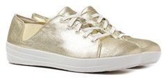 Fitness Schuhe Sneaker - F-Sporty Schnürschuhh, gold. Clogs, Gold Sneakers, Fitflop, Workout Wear, Sporty, Fitness, Fashion, Golden Sneakers, Comfortable Sneakers
