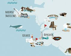 """Check out new work on my @Behance portfolio: """"Map of Iceland"""" http://be.net/gallery/46917519/Map-of-Iceland"""