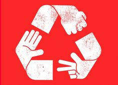 """""""Rock Paper Scissors Recycled"""" - Threadless.com - Best t-shirts in the world"""