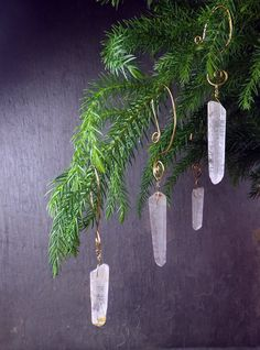 Get your Outdoor Princes these quartz Christmas tree ornaments so she can have a magical icicle tree inside. set of 6 for $48