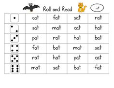 Roll and read is a dice game where the child will roll a dice then read the row going across. I use it in my literacy centers.