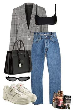 """look:#616"" by dollarwomanlux ❤ liked on Polyvore featuring Alexander Wang, Vetements, Reebok, Yves Saint Laurent, Matteau and 1984XClass"