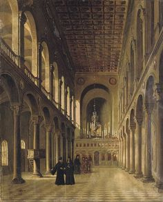 Theodore Jacques Ralli (Constantinople Lausanne) , Interior of an Orthodox church Church Architecture, Architecture Drawings, Historical Architecture, Architecture Design, Greek Paintings, Church Interior, Interior Rendering, 10 Picture, Greek Art
