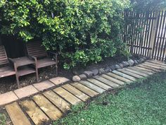 "My new hardwood footpath which I built on my ""holidays"""