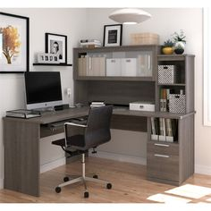 30 best l shaped desks images desk hutch computer desk with hutch rh pinterest com