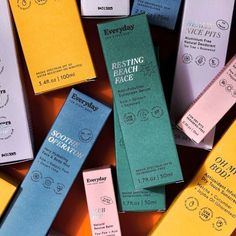 Colorful and playful packaging design Branding And Packaging, Skincare Packaging, Coffee Packaging, Bottle Packaging, Soap Packaging, Pretty Packaging, Cosmetic Packaging, Beauty Packaging, Branding Design