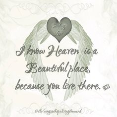 I  know  Heaven  is  a  Beautiful  place,  because You  live  there      ............<3<3<3............