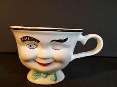 Bailey's Irish Cream Yum Limited Edition Winking Man Coffee Mug Cream Coffee Cups, Baileys Irish Cream Coffee, Coffee Cup Set, Cream Cups, Tea Cup Set, Coffee Mugs, Baileys Original, Men Coffee, Face Mug