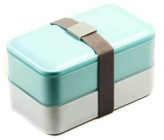 PuTwo Lunch Box Microwave Safe BPA-Free All-in-One Stackable Bento Box - Blue