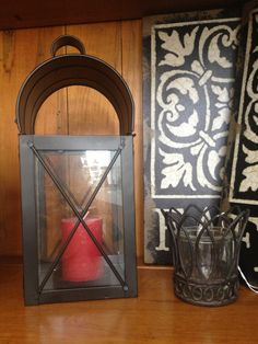Candle Lantern!! See our Décor Ideas board for awesome ways to use this around the house this fall!