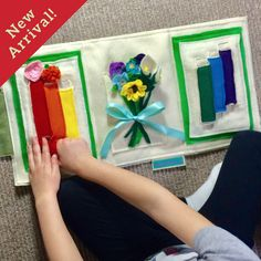 This is AMAZING ePattern Flower A... check it out now http://tinyfeats.myshopify.com/products/epattern-flower-arranging-quiet-book?utm_campaign=social_autopilot&utm_source=pin&utm_medium=pin