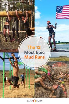 These 12 mud runs will test your strength, endurance and grit thanks to crazy obstacles. Read on to find the perfect event, whether you're new or elite. Running Training Plan, Race Training, Running Workouts, Fun Workouts, Crossfit Humor, Crossfit Motivation, Spartan Challenge, Rugged Maniac, Obstacle Course Races