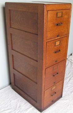 1920's Oak Filing Cabinet , Vintage filing cabinet, oak filing ...